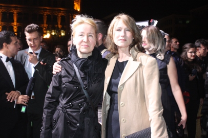 Corinna Horfuch und Begleitung beim Hessischen Film- und Kinopreis 2017