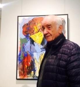 Armin Müller-Stahl zeigt eines seiner Werke in Bad Soden am Taunus