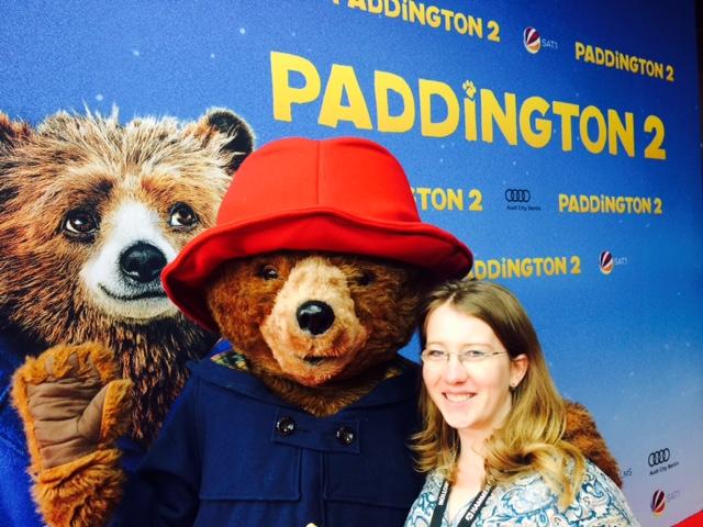 """Paddington und ich bei der Premiere von """"Paddington """" in Berlin"""
