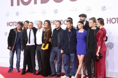"""Regisseur Torsten Künstler und sein Cast bei der """"Hot Dog"""" Premiere in Berlin"""