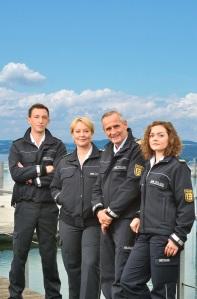 """Simon Werdelis, Floriane Daniel, Tim Wilde und Wendy Güntensperger in """"WaPo Bodensee"""""""