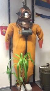 Tim Wilde tauchte einst mit einem Helmtauchschlauchgerät