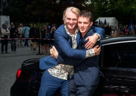 """Detlev Buck und Jannis Niewöhner auf der Weltpremiere von """"Asphaltgorillas"""" auf dem Filmfest in München"""