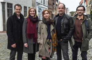 """Das Team der """"SOKO Hamburg"""" - Mirko Lang, Anna von Haebler, Kathrin Angerer, Marek Erhard und Arnel Taci"""