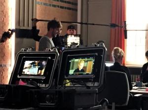 """Rhea Harder-Vennewald während der Dreharbeiten zu """"Notruf Hafenkante"""""""
