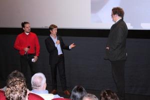 Martin Otto, Tom Schilling und Florian Henckel von Donnersmarck im Kinocenter Gießen