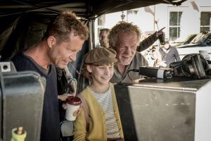 """Til Schweiger, Sophia Lane Nolte und Nick Nolte bei den Dreharbeiten von """"Head Full of Honey"""""""