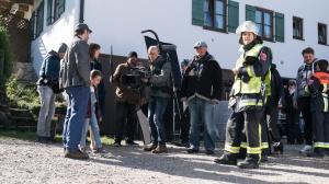 """Stefan Murr bei den Dreharbeiten zu """"Marie fängt Feuer"""""""